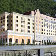 Radisson hotel in the Rosa Khutor Alpine Resort. Krasnaya Polyan — Stock Photo