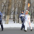 Olympic Torch Relay in Omsk. Russia. — Stock Photo