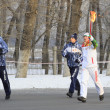 Stock Photo: Olympic Torch Relay in Omsk. Russia.