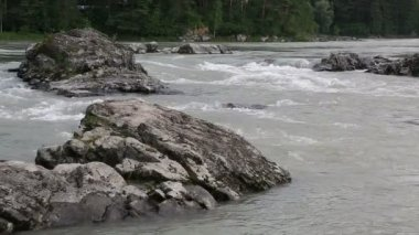 Thresholds mountain river Katun. Altai Krai. Russia. — Stock Video