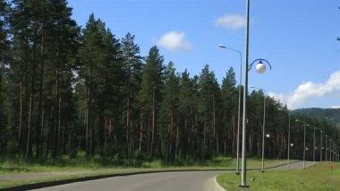 """Travel on a special economic zone of tourist """"Biryuzovaya Katun"""". Altai Krai. Russia. — Stockvideo"""