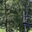 Stock Video: Ski chairlift on Mount Shallow Sinyuha. Altai Republic. Russia