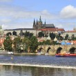 Prague Castle and river Vltava. — Stock Photo