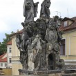 Постер, плакат: Statues of Saints John of Matha Felix of Valois and Ivan Char