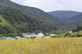 "Sanatorium ""Centrosouz"" in the gorge near the village Danilovka. — Stock Photo"