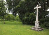 Cross in the gardens of Petrin in Prague. — Foto Stock