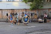 Indian śpiewu i tańca w centrum moskwy. — Zdjęcie stockowe