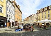 Male Namesti in the historical centre of Prague. — Stock Photo