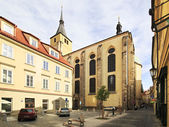 Church of St. Ilya in the street Jan HUS in Prague. — Stock Photo