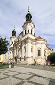 Church of St. Nicholas in Prague. Old Town Hall. — Stock Photo