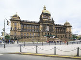 National museum on the Wenceslas Square. — Stock Photo