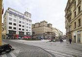 Prag tarihi merkezinde mimarisi. — Stok fotoğraf