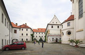 Basilica of the Assumption of Our Lady. Strahov Monastery in Pra — Stock Photo