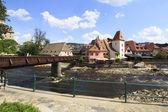 Beautiful summer landscape of the historical center of Cesky Kru — Stock Photo
