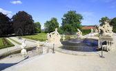 Fountain in the castle garden of Cesky Krumlov. — Stock Photo