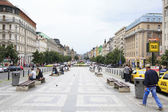 Wenceslas Square in historic centre of Prague. — Stock Photo