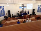 Evangelical Church Service in Russia — Stock Photo