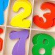 Numbers in a box — Stock Photo
