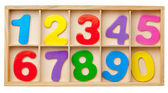 Numbers in a box. Isolated. — Stock Photo