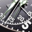 zwarte stopwatch close-up — Stockfoto