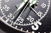 Black stopwatch close up — Stock Photo