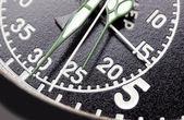 Siyah kronometre yakın çekim — Stok fotoğraf
