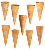 Ice cream cones set — Stock Photo