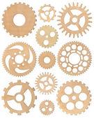 Wooden cogwheels set — Stock Photo