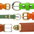 Shabby leather belts — Stok fotoğraf