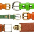Shabby leather belts — Stock fotografie