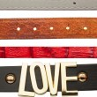 Shabby leather belts — Stock Photo