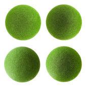 Green grass balls set — Stock Photo