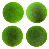 Green grass balls set — Foto de Stock