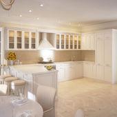 Modern kitchen house interior — Stock Photo