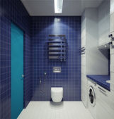 Bathhroom in newly converted house — Stock Photo