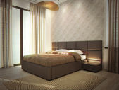 Luxury hotel room interior — Stock Photo