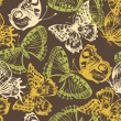 Butterfly seamless pattern - Stockvectorbeeld