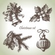 Royalty-Free Stock Vector Image: Hand drawn christmas set