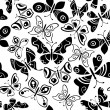 Seamless pattern with butterflies — Stock Vector #12634197