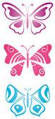 Set of butterflies — Stock Vector