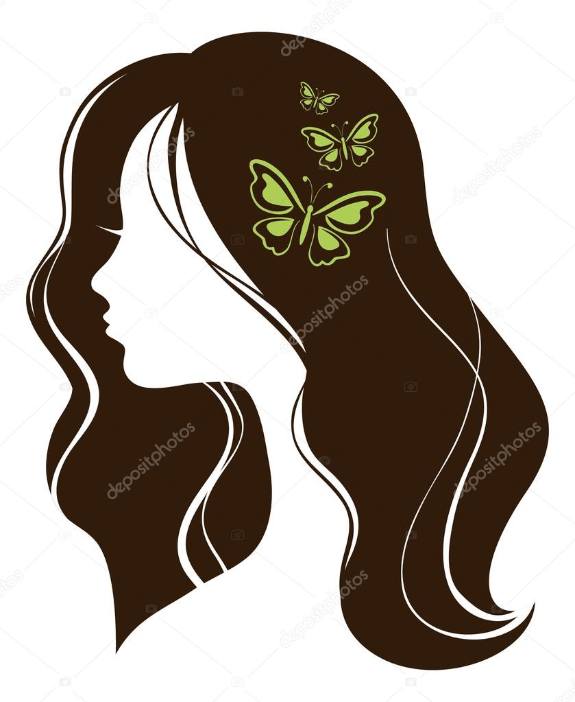 Beautiful girl with butterflies  — Stock Vector #12633967
