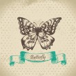 Royalty-Free Stock Vector Image: Butterfly. Hand drawn illustration
