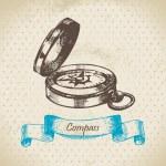 Mariner's compass — Stock Vector