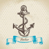 Anchor. Hand drawn illustration — Stock Vector