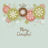Vintage Christmas background — Stock Vector