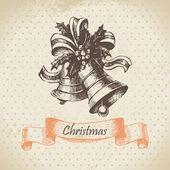 Campana de navidad. ilustración dibujado a mano — Vector de stock