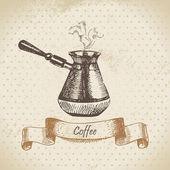 Kávové konvice. ručně tažené ilustrace — Stock vektor