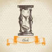 Pískové sklo, ručně kreslenou ilustrace — Stock vektor