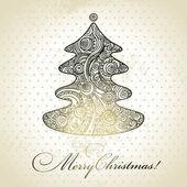 Christmas tree. Hand drawn illustration — Stockvektor