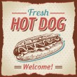 Vintage hot dogs background — Stock Vector